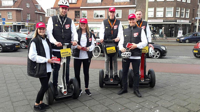 Segways campagne in Den Haag met hostesses van GoodDay Hospitality